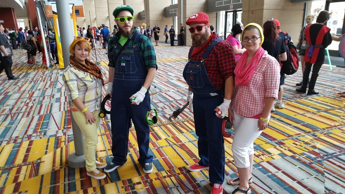 Mario, Peach, Luigi and Daisy